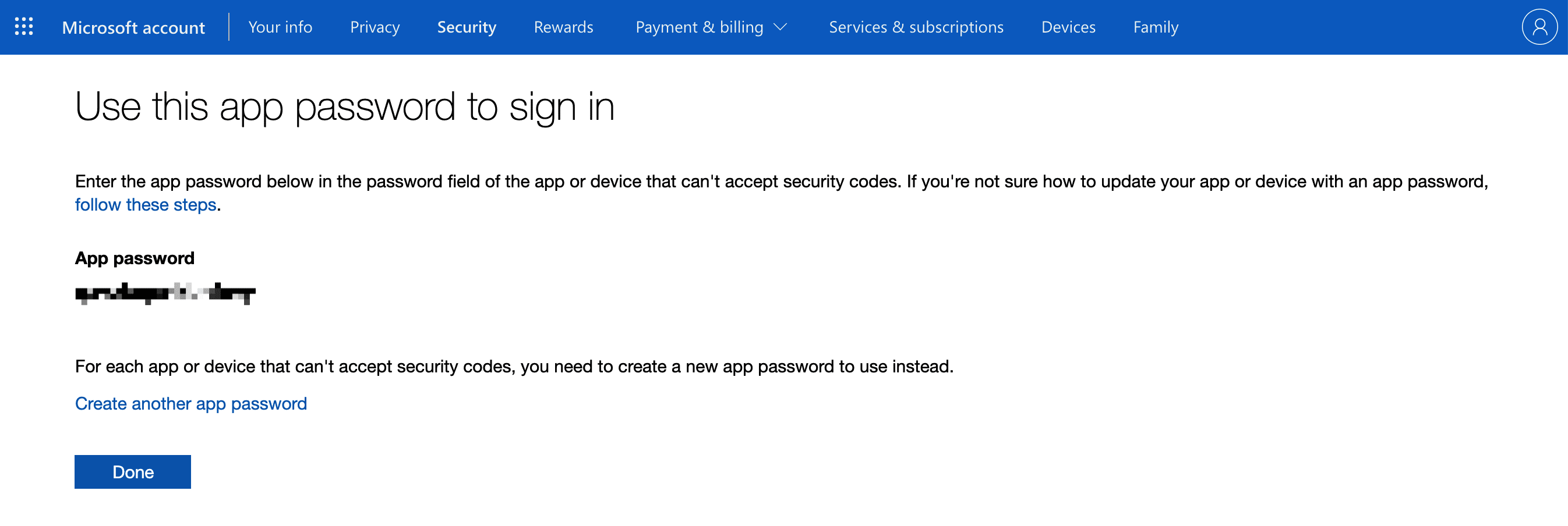 generate app password
