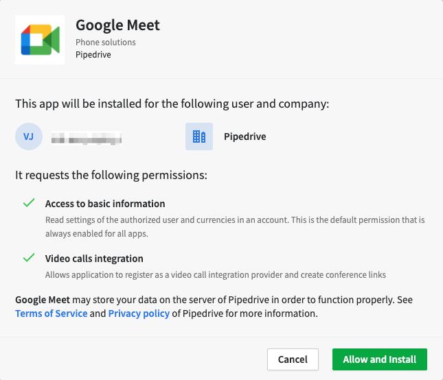 google meet authentication